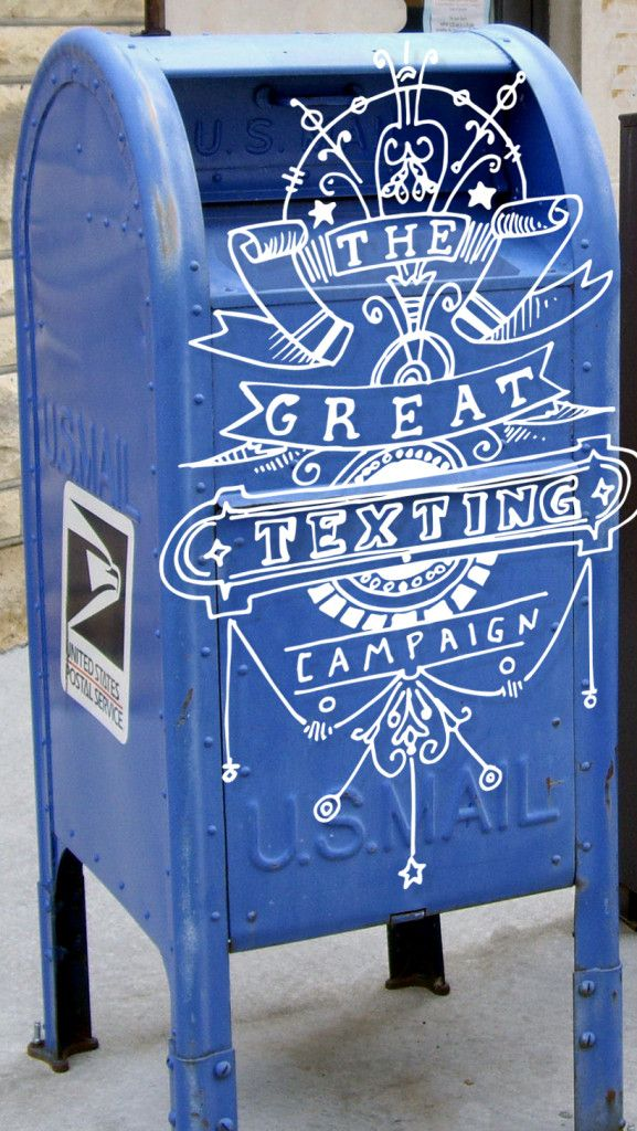 texting campaign_blue post box