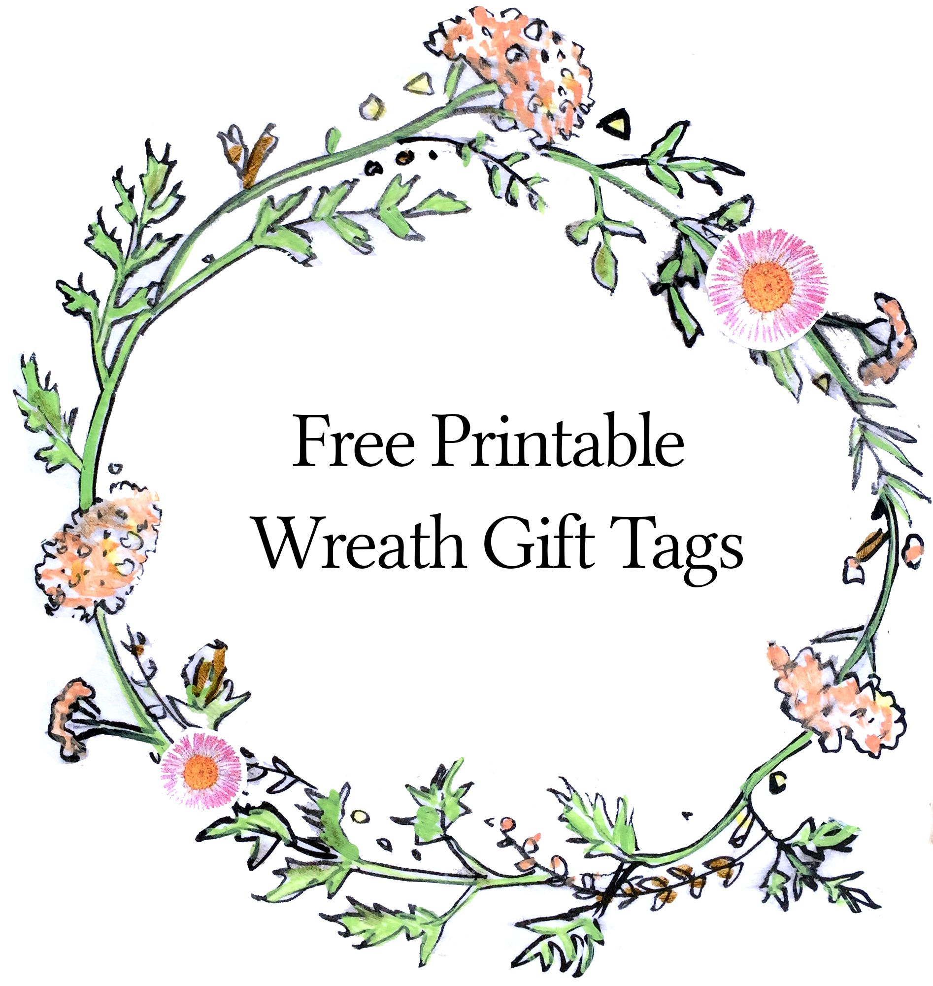 Giants pilgrims free printable gift tags for Flower tags template free