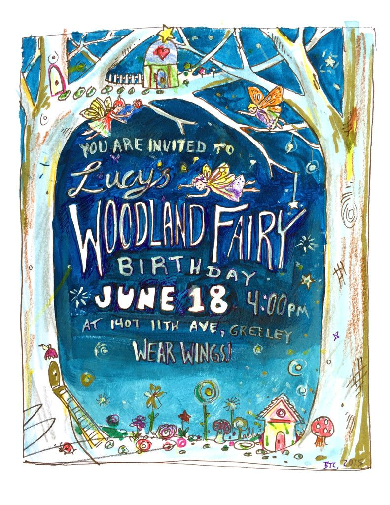 lucy 6 woodland fairy invite
