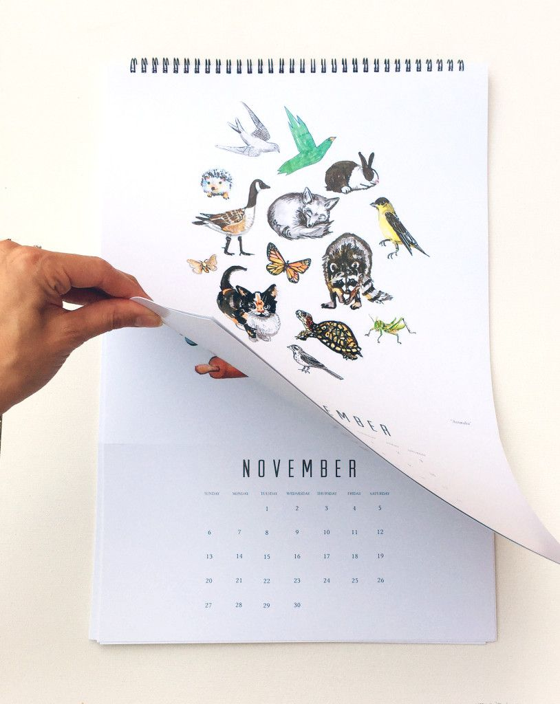 turning calendar page