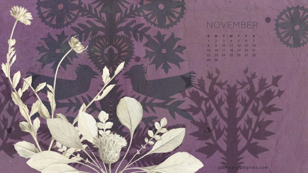 Iphone Calendar Wallpaper November : Giants pilgrims november calendar free desktop and