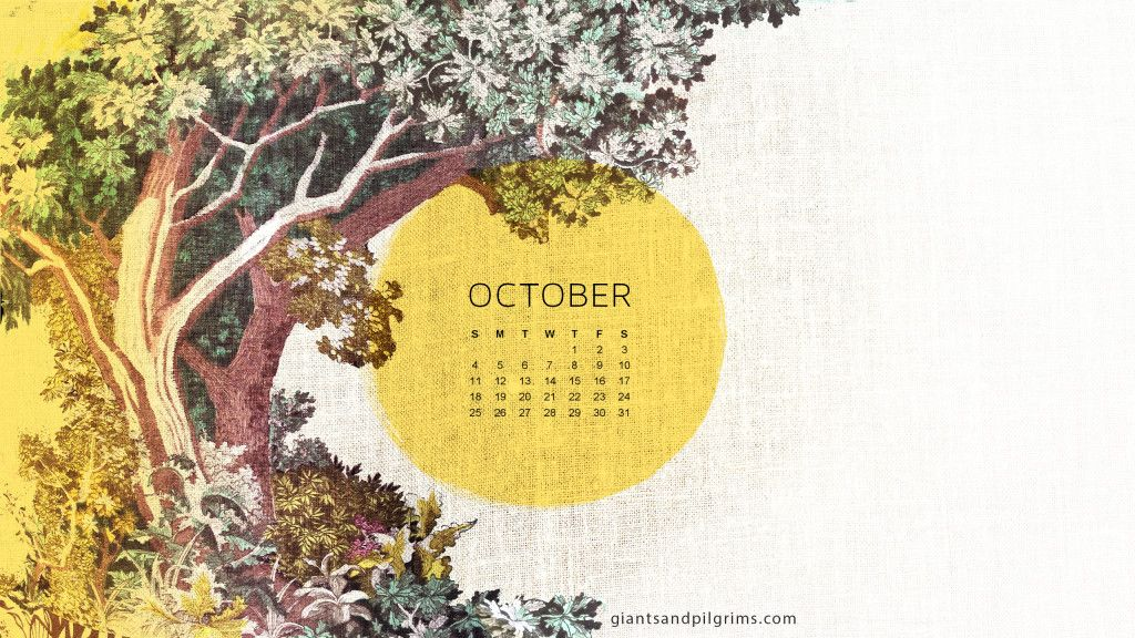 October Calendar Wallpaper : Giants pilgrims october calendar free desktop and