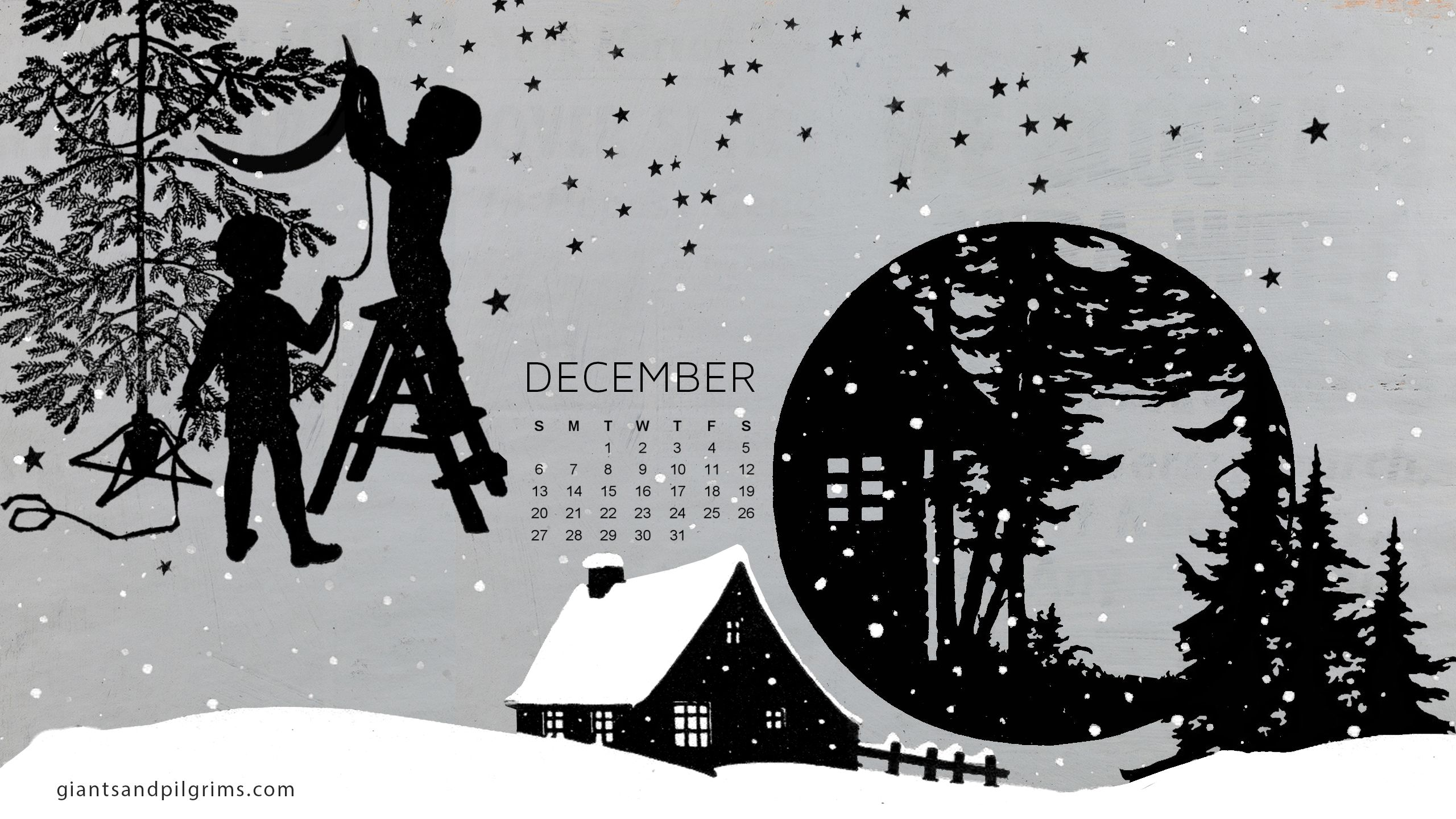December Calendar Art : Giants pilgrims december calendar free desktop and iphone