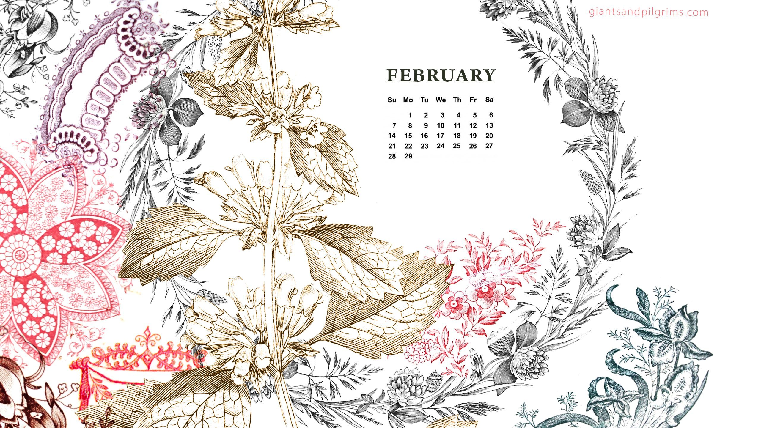 Free Desktop Calendar Wallpaper : Giants pilgrims february free calendar desktop and
