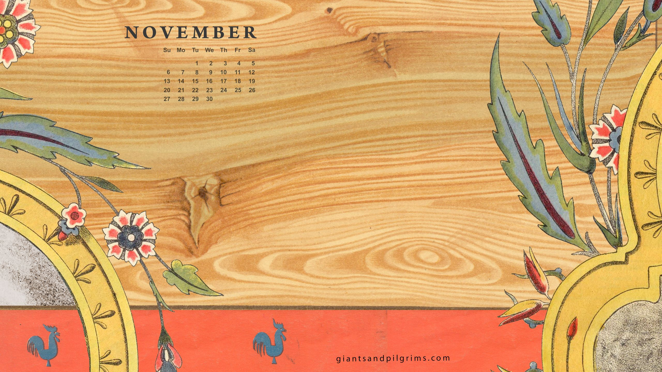 Iphone Calendar Wallpaper November : Giants pilgrims november free calendar desktop and